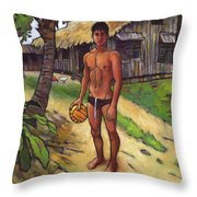 On The Old Beach Road Throw Pillow