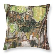On The Outer - Tree Trunk Extracts - Section Detail II Throw Pillow