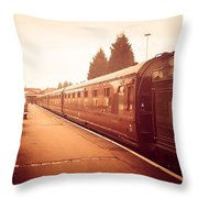 On The Platform Throw Pillow