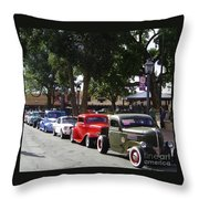 On The Plaza Throw Pillow