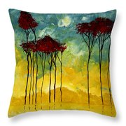 On The Pond By Madart Throw Pillow