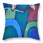 On The Precipice Throw Pillow