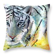 On The Prowl Throw Pillow by Sherry Shipley