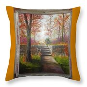 On The Right Path Throw Pillow