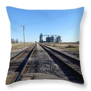 On The Right Tracks Throw Pillow