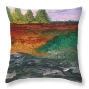 On The River's Edge Throw Pillow