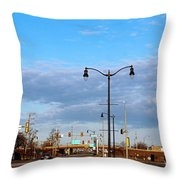 On The Road Agan Throw Pillow