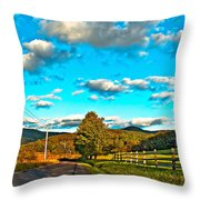 On The Road In Wv Throw Pillow
