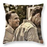 On The Road-mitt Romney Throw Pillow