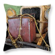 On The Road To Adventure Throw Pillow