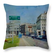 On The Road To Aix Throw Pillow