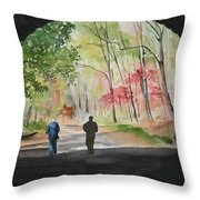 On The Road To Nowhere Throw Pillow