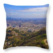 On The Road To Oz La Skyline Runyon Canyon Hiking Trail Throw Pillow