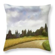On The Road To Siena Throw Pillow