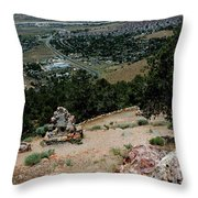 On The Road To Virginia City Nevada 15 Throw Pillow