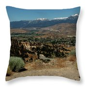 On The Road To Virginia City Nevada 20 Throw Pillow