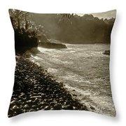 On The Rocks Bw Throw Pillow