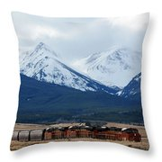On The Rocky Mountain Front Throw Pillow