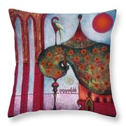 On The Rooftop Of The World Throw Pillow