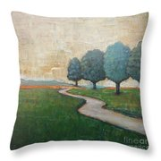 On The Rural Road Throw Pillow
