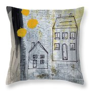 On The Same Street Throw Pillow by Linda Woods