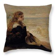 On The Seashore Throw Pillow