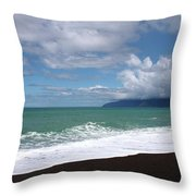 On The Shore Of Lake Ferry Throw Pillow