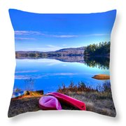 On The Shore Of Seventh Lake Throw Pillow