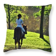 On The Showgrounds Throw Pillow