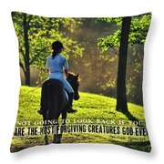 On The Showgrounds Quote Throw Pillow