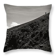 On The Slope Throw Pillow