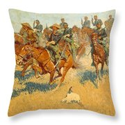 On The Southern Plains Frederic Remington Throw Pillow