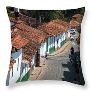 On The Streets Of Barichara - 3 Throw Pillow
