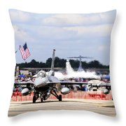 On The Taxiway Throw Pillow