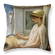 On The Terrace Throw Pillow