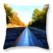 On The Track Throw Pillow