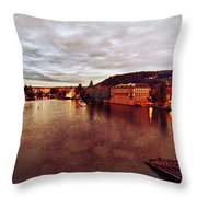 On The Vltava River Throw Pillow
