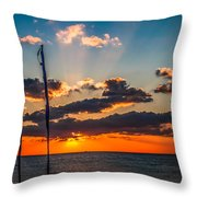 On The Water Front Throw Pillow