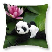 On The Waterlily Throw Pillow