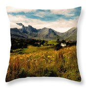 On The Way To Elgol Throw Pillow