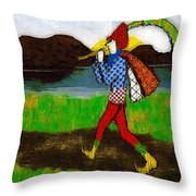 On The Way To Hamelin Town Throw Pillow