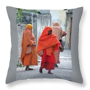 On The Way To Morning Prayers - India Throw Pillow