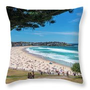 On The Way To The Beach. Throw Pillow