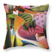 On The Way To The Village Throw Pillow