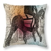 On The Way To The Workout Throw Pillow