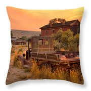 On The Way To Town Throw Pillow