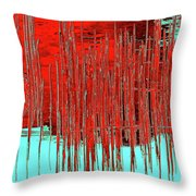 On The Way To Tractor Supply 3 14 Throw Pillow