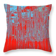On The Way To Tractor Supply 3 18 Throw Pillow