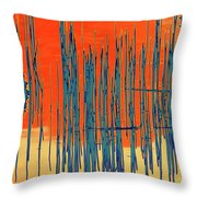 On The Way To Tractor Supply 3 22 Throw Pillow