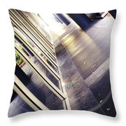 On The Way To Work Throw Pillow